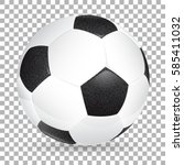 high detailed realistic soccer... | Shutterstock .eps vector #585411032