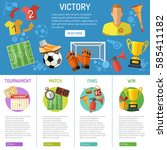 soccer infographics with flat... | Shutterstock .eps vector #585411182