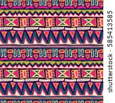 sketch pattern. tribal doodles... | Shutterstock .eps vector #585413585