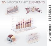 3d infographic elements | Shutterstock .eps vector #585430166