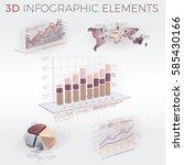 3d infographic elements | Shutterstock .eps vector #585430166
