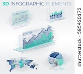 3d infographic elements | Shutterstock .eps vector #585430172