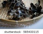 Dried Wood Ear Mushrooms In A...