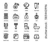 bathroom personal hygiene... | Shutterstock .eps vector #585443996
