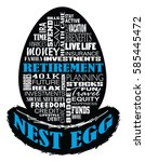 retirement   nest egg is an... | Shutterstock . vector #585445472
