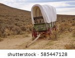 Old Covered Wagon On Oregon...