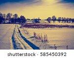 Snowy Winter Rural Landscape I...