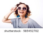 indoor isolated fashion... | Shutterstock . vector #585452702
