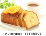 orange  pound cake | Shutterstock . vector #585455978