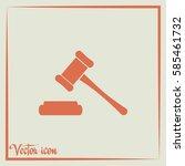 hammer judge icon vector... | Shutterstock .eps vector #585461732