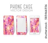 case for mobile phone with... | Shutterstock .eps vector #585466556