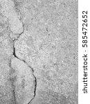 crack concrete floor texture... | Shutterstock . vector #585472652