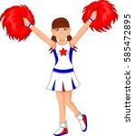 cheerleader girl | Shutterstock .eps vector #585472895