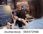 small business  payment  people ... | Shutterstock . vector #585472988