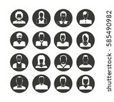 people avatar icon set in