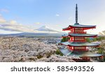 Fuji San And Chureito Pagoda I...
