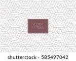 geometric vector pattern ... | Shutterstock .eps vector #585497042