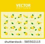 seamless pattern with lemon  ...   Shutterstock .eps vector #585502115