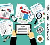 vector illustration of business ...   Shutterstock .eps vector #585507002