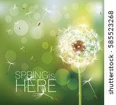 dandelion background | Shutterstock .eps vector #585523268