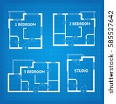 apartment floor plan... | Shutterstock . vector #585527642