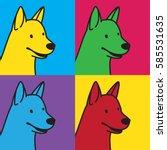 Dog Smile Pop Art Graphic...