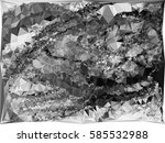 abstract monochrome mosaic... | Shutterstock .eps vector #585532988