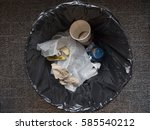 inside of a garbage can with... | Shutterstock . vector #585540212