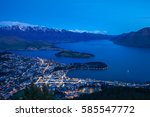 Skyline Of Queenstown City And...