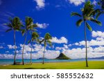 chinaman's hat  oahu | Shutterstock . vector #585552632