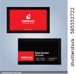 red and black modern business... | Shutterstock .eps vector #585552722