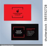 red and black modern business... | Shutterstock .eps vector #585552728