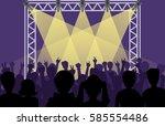 concert pop group artists on... | Shutterstock .eps vector #585554486