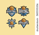basketball logo club team... | Shutterstock .eps vector #585555356