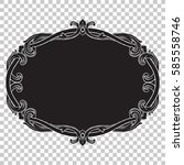 ornament in baroque style on... | Shutterstock .eps vector #585558746