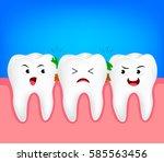 the remnants of food stuck in... | Shutterstock .eps vector #585563456
