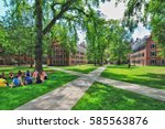 yale university  new haven ... | Shutterstock . vector #585563876