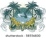 surf cali   Shutterstock .eps vector #58556830