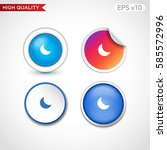 colored icon or button of moon... | Shutterstock .eps vector #585572996