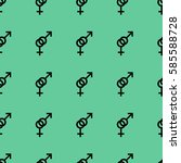 seamless pattern. female and... | Shutterstock .eps vector #585588728