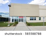 hospital building with... | Shutterstock . vector #585588788