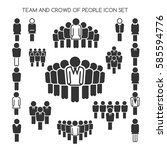 team and crowd of people and... | Shutterstock .eps vector #585594776