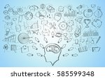 hand drawn manuscript project... | Shutterstock . vector #585599348