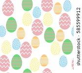 vector seamless pattern. eggs.... | Shutterstock .eps vector #585599912