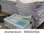 business concept  pile of
