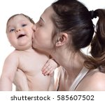 mother and her little son | Shutterstock . vector #585607502