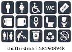 Toilet Vector Icons Set  Boy O...