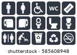 Toilet Vector Icons Set  Boy O...