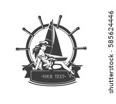 Vintage Icon Yacht And Pin Ap...