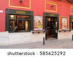 seville   april 19  tapas bar... | Shutterstock . vector #585625292